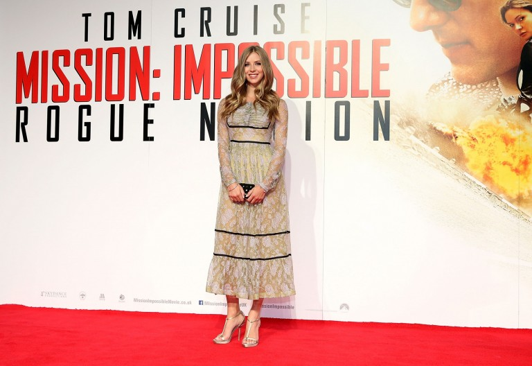 Hermione Corfield @ UK Fan Screening MISSION IMPOSSIBLE – ROGUE NATION