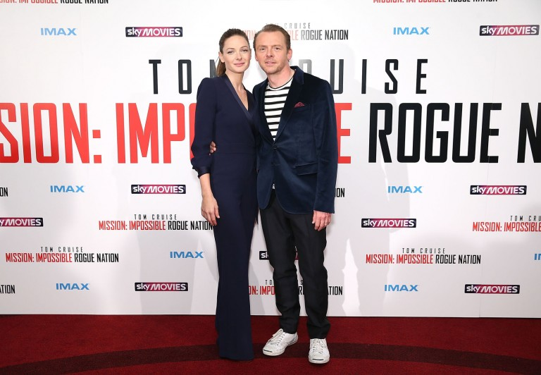 Rebecca Ferguson & Simon Pegg @ UK Fan Screening MISSION IMPOSSIBLE – ROGUE NATION
