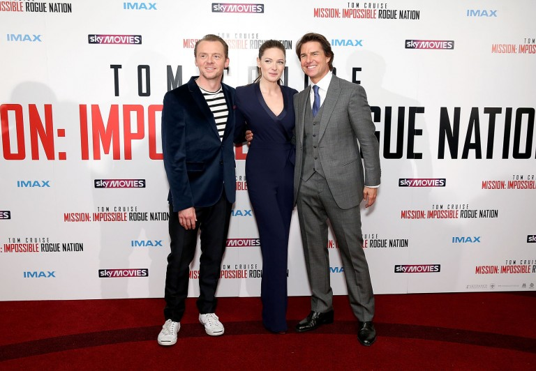 Simon Pegg, Rebecca Ferguson & Tom Cruise @ UK Fan Screening MISSION IMPOSSIBLE – ROGUE NATION