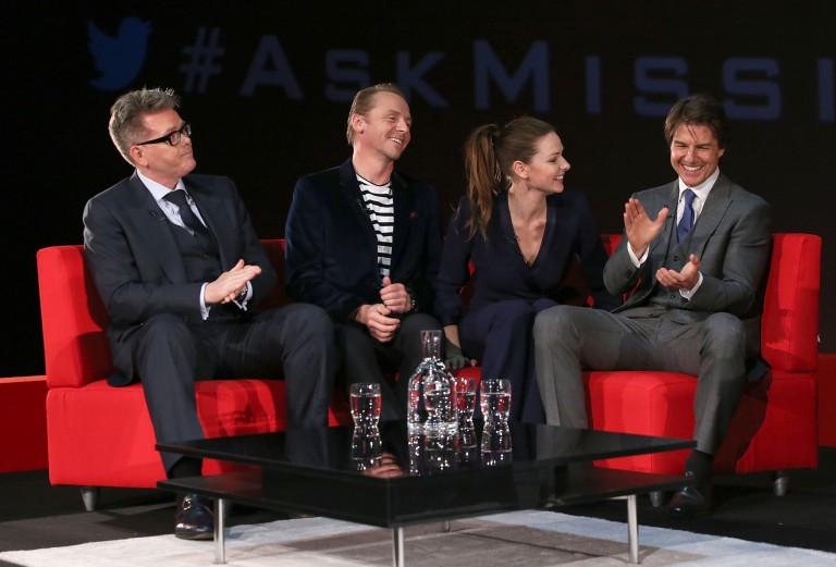Christopher McQuarrie, Simon Pegg, Rebecca Ferguson, & Tom Cruise @ UK Fan Screening MISSION IMPOSSIBLE – ROGUE NATION