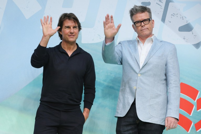 Tom Cruise and Christopher McQuarrie @ Japan Press Conference of MISSION IMPOSSIBLE – ROGUE NATION