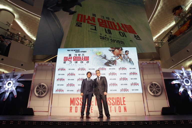 Tom Cruise & Christopher McQuarrie @ Seoul Premiere MISSION IMPOSSIBLE – ROGUE NATION