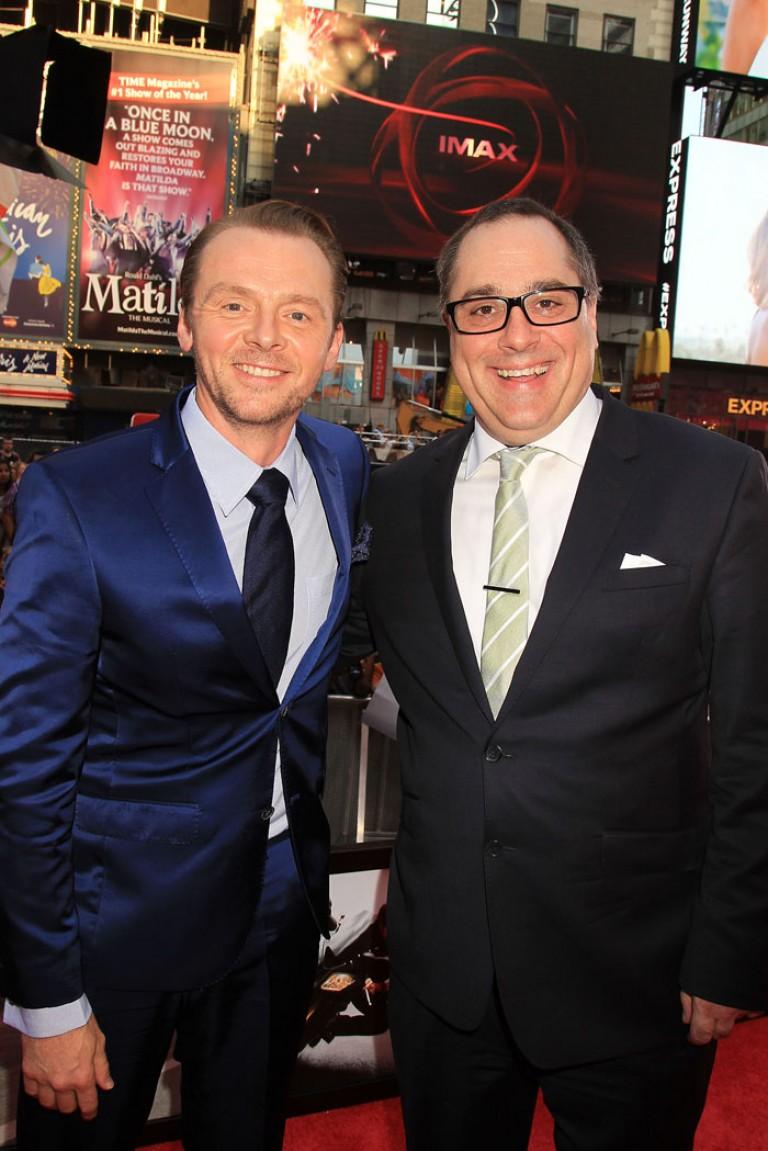 Simon Pegg & Joe Kraemer @ NY Premiere MISSION IMPOSSIBLE – ROGUE NATION