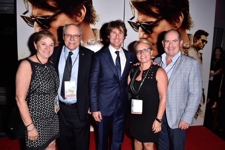 Sharon Jacob, Ellis Jacob, Tom Cruise, Kerry McGrath, & Dan McGrath @ Canadian Fan Premiere MISSION IMPOSSIBLE – ROGUE NATION