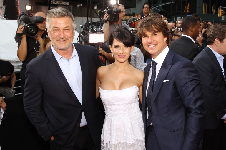 Alec Baldwin, Hilaria Baldwin & Tom Cruise @ MISSION IMPOSSIBLE – ROGUE NATION NY Premiere