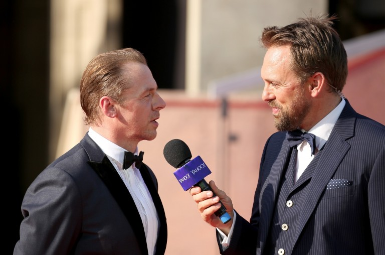 Simon Pegg & Steven Gaetjen @ Vienna World Premiere MISSION IMPOSSIBLE – ROGUE NATION