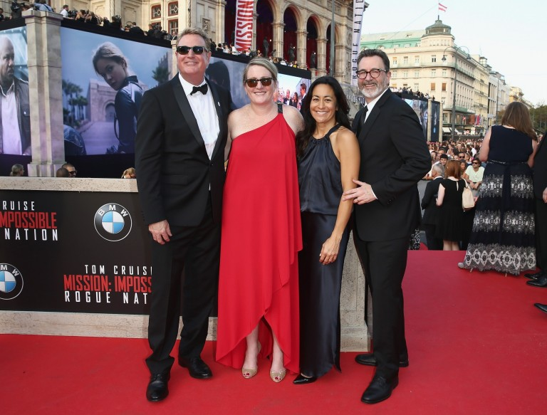 Randy Spendlove, Megan Colligan, Stephanie Ito, & Lee Rosenthal @ Vienna World Premiere – MISSON IMPOSSIBLE – ROGUE NATION