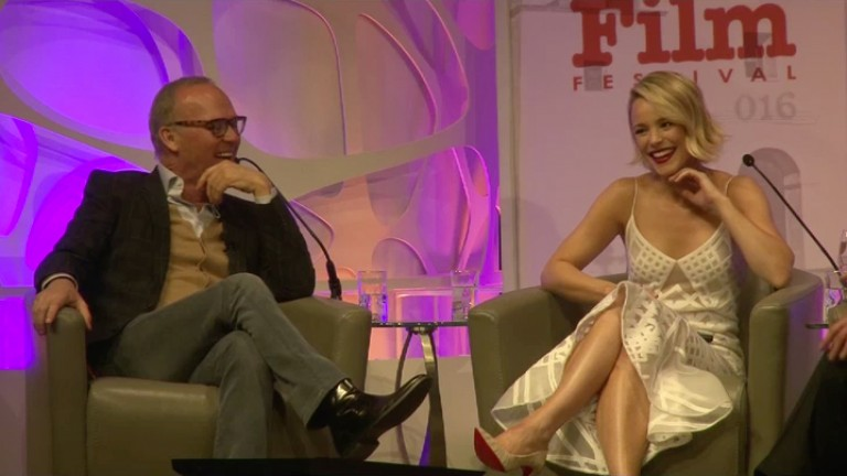 Rachel McAdams Talks About Michael Keaton