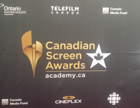 At the #CdnScreen16 Nominees Reception on Monday, March 7th at the Ritz Carlton in Toronto.