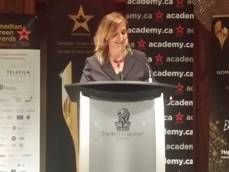 Francesca Accinelli of Telefilm at #CdnScreen16 Nominees Reception