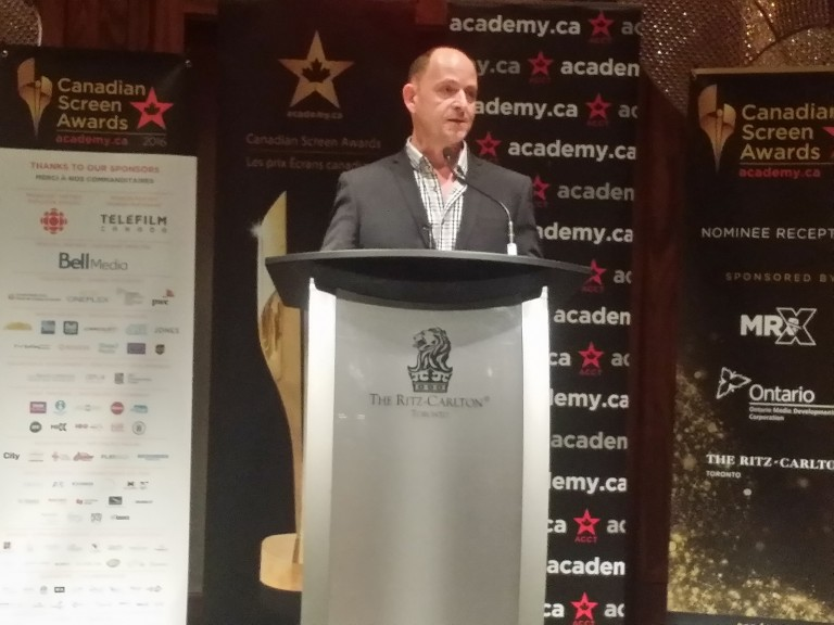 Maurice Boucher of the Canada Media Fund at #CdnScreen16 Nominees Reception