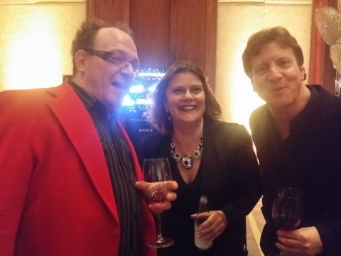 (L-R) Photographer & Filmmaker Zefred, Director of Communications for The Academy Suzan Ayscough and Film & TV editor Michael Doherty enjoying themselves at the #CdnScreen16 Nominees Reception on Monday, March 7th at the Ritz Carlton in Toronto.