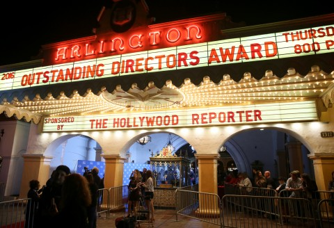 Outside the Arlington Theater during the 31st Santa Barbara International Film Festival on February 11, 2016 in Santa Barbara, California. (Photo by Rebecca Sapp/Getty Images for Santa Barbara International Film Festival)