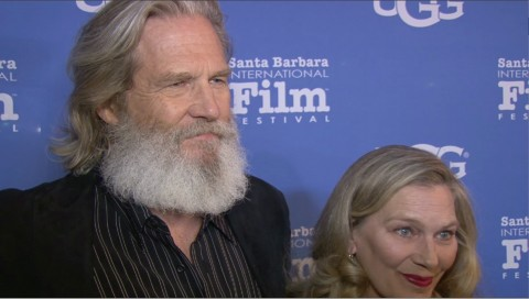 Actor Jeff Bridges and Susan Geston attend the opening night presentation of The Little Prince at the Arlington Theater during the 31st Santa Barbara International Film Festival on February 3, 2016 in Santa Barbara, CA.