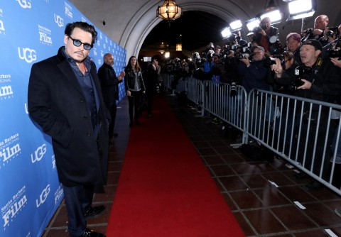 Actor Johnny Depp attends the Maltin Modern Master award tribute during the 31st Santa Barbara International Film Festival at the Arlington Theater on February 4, 2016 in Santa Barbara, California. (Photo by Mark Davis/Getty Images for Santa Barbara International Film Festival)