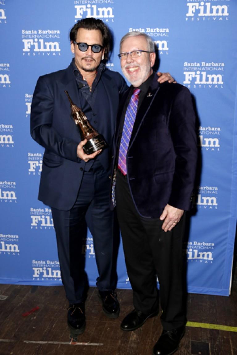 Leonard Maltin & Maltin Master Award Winner Johnny Depp