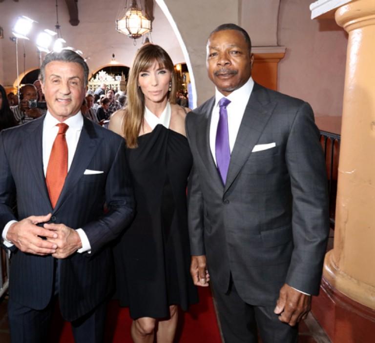 Montecito Award Winner Sylvester Stallone, Jennifer Flavin & Carl Weathers