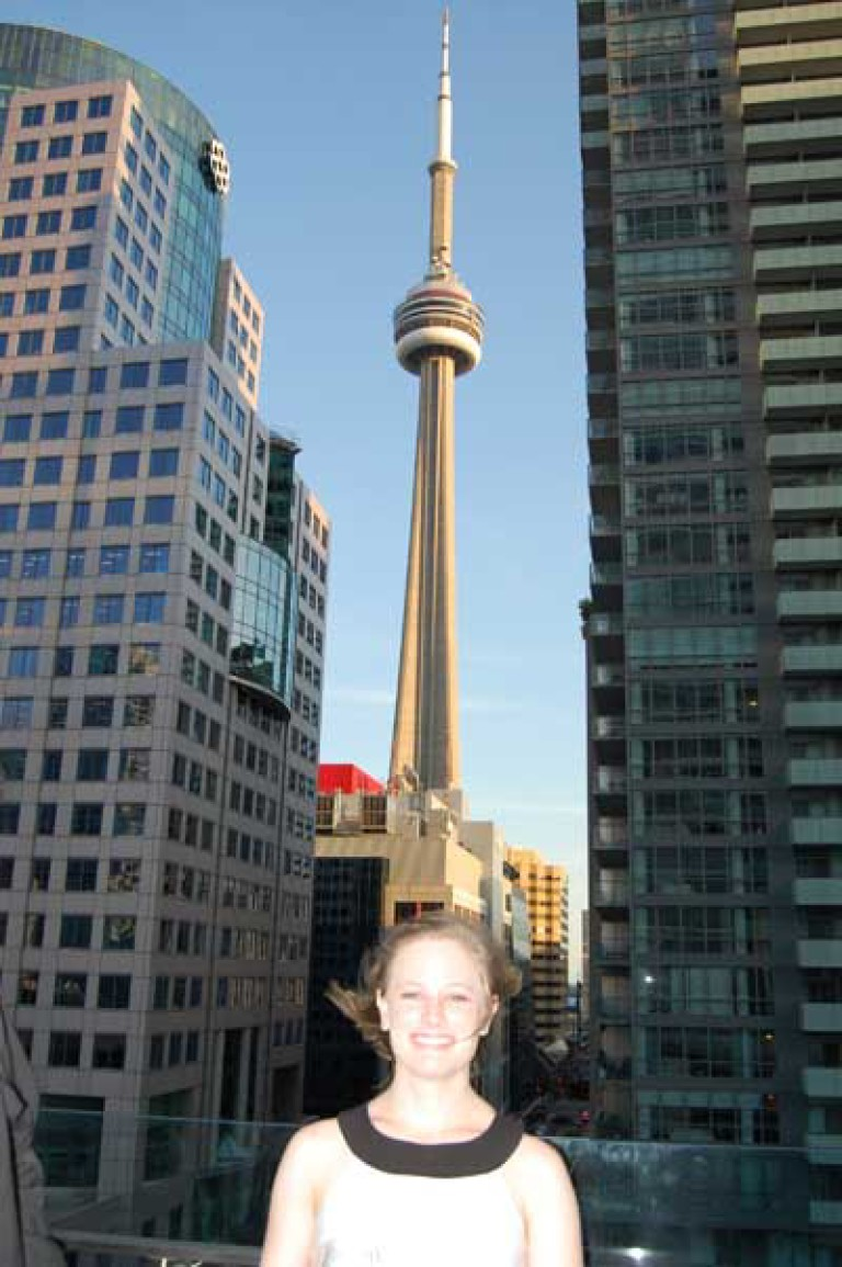 Caitlin & the CN Tower at the White's TIFF Party