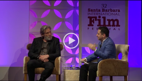 Jeff Bridges received the American Riviera Award from the Santa Barbara Int'l Film Festival @ the Historic Arlington Theatre on Thurs, Feburary 9th. A discussion was moderated by The Hollywood Reporter's Scott Feinbery about his long and successful career.