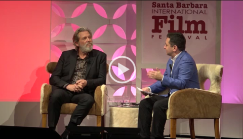 Jeff Bridges received the American Riviera Award from the Santa Barbara Int'l Film Festival @ the Historic Arlington Theatre on Thurs, Feburary 9th. A discussion was moderated by The Hollywood Reporter's Scott Feinberg about his long and successful career.