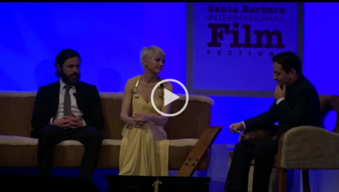 The stars of MANCHESTER BY THE SEA Michelle Williams & Casey Affleck receive the 2017 Santa Barbara Int'l Film Festival Cinema Vanguard Award. The Hollywood Reporter's Scott Feinberg moderated a candid & revealing conversation with the actors on Sun, February 5th @ the Arlington Theatre.