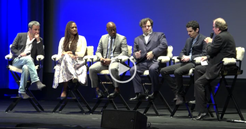 Directors Barry Jenkins (MOONLIGHT), Damien Chazelle (LA LA LAND), Denis Villeneuve (ARRIVAL), Kenneth Lonergan (MANCHESTER BY THE SEA) & Ava DuVernay (13TH) the 2017 Outstanding Directors of the Year Award on Tues, February 7th in Santa Barbara @ the Arlington Theatre. Pete Hammond of DEADLINE spoke with the directors.